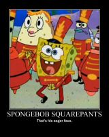 Spongebob Squarepants Eager Face by Onikage108