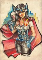 Thor Fangirl by rianbowart