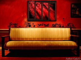 Abstract painting polyptych by Gala3d