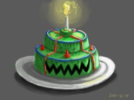 57 cake by foice