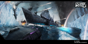 Ocean At War - Concept Art by zeedurrani