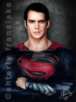 Man Of Steel 2013 Digital Painting by shierly85