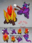 Lucas the Campfire Mini Mon by MiniMons