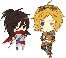 LoL chibis by Sir-Cupid