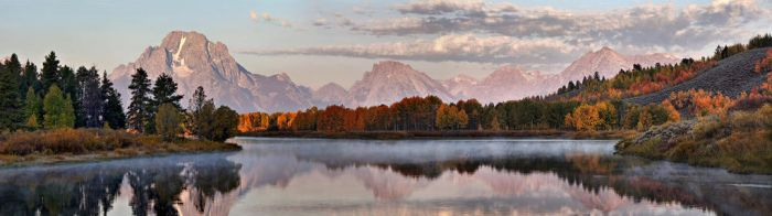 First Light on the Tetons panorama by ariseandrejoice