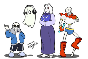 Undertale Stream Doodles by TheRoflCoptR