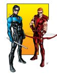 Nightwing and Red Arrow by sean-izaakse