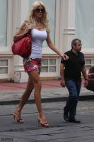 Victoria Silvstedt street by lowerrider