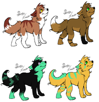 Female wolf adopts by Icey-adopts