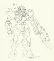 Mobile Suit Design Concept by Jamz671