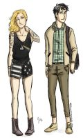 Punk!Annabeth and Preppy!Percy by odairwho