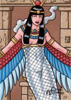 Isis Sketch Card - Classic Mythology by ElainePerna