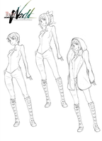 Fate/WORLD designs and redesigns - Sara by theSN3S