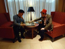 Spock - Dr. Who Chess Match by GrumpyCosplay