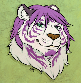 Tora - Badge by badkittyamy