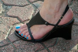 Rica's Black Heels 2 by Feetatjoes