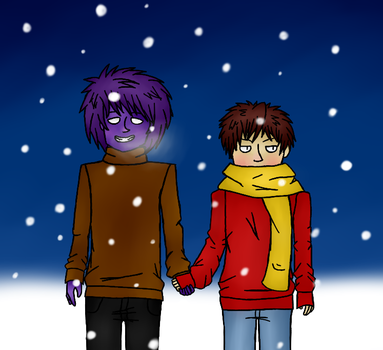 Purple Guy x Mike - It's cold... by realistdepressionman
