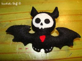 Bat Skelanimal Felt Brooch by inu-chan-free