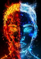 Dualism - Fire and Water by hakeryk2