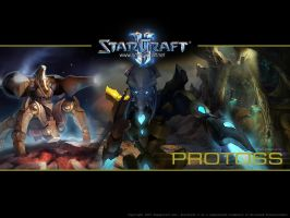 StarCraft 2 Protoss Wallpaper by maul