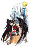 Birds of a feather JackxYusei by slifertheskydragon