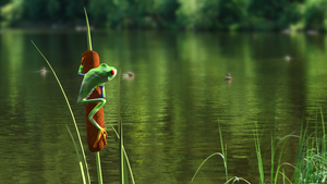 Frog 3D Incrustation by TrefleMeilleur