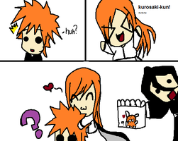 orihime glomps :D by SuzunaHino45