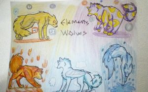 Elements wolf by EclipseQuest2