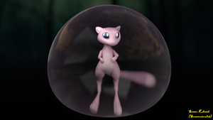 Mew (Pokemon fan art) by Snowconesolid