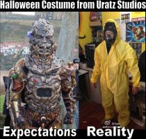 Uratz Halloween Costume Expectations by Uratz-Studios