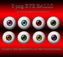 EYE BALLS by www.the-night-bird.deviantart.com by the-night-bird