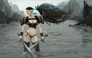 Fantasy Female Barbarian by ClevelandH
