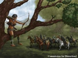 COM : Wild Elf and the Lord scene 1 by whiteguardian