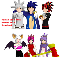 Human Sonic Models PACK 1 by Theshadowman97