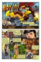 BOY IPIS origin page 1 colored by gammaknight