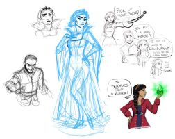 Galavant Sketch Dump 1 by zzleigh