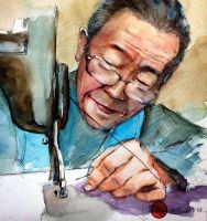 Watercolor Portrait of tailor by young920