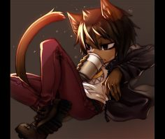 Coffee Cat by Ann-Jey