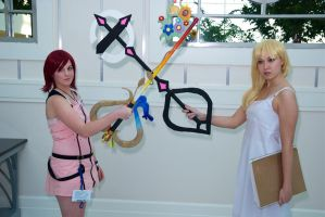 Check Out Our Keyblades by mikomiscostumedworld