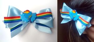 Rainbow Dash Hair Clip - for Otakon by sakkysa