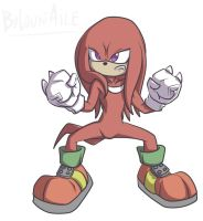 Knuckles the echidna by CountAile