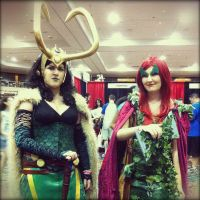 Lady Loki and Poison Ivy - Las Vegas Comic Expo by ShinrasFlurry