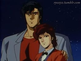 City Hunter - Ryo and Kaori by MaryHatake