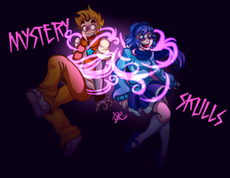 Mystery Skulls by ChaoticArtCrazy