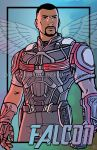 Commission - Sam Wilson Falcon by DeanGrayson