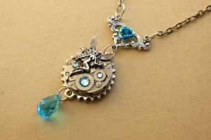Steampunk Fairy necklace by LsUnique