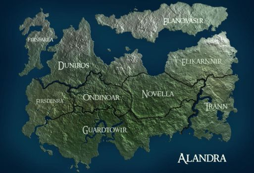 Alandra Map by SuperGiantBird