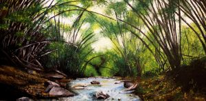 Forest of Bamboo by TheLittleCrow
