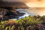 North coast at the sunset by Wanowicz