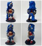 Wonder Woona custom MLP sculpture 4 SALE by MadPonyScientist